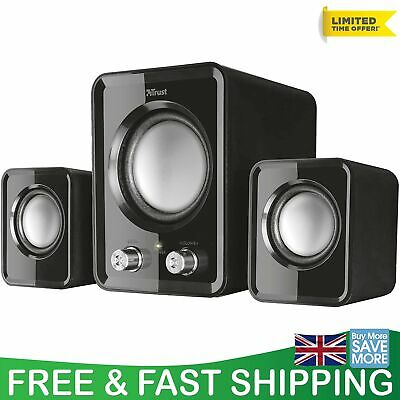 2.1 PC Speakers Subwoofer For Computer And Laptop Compact System 12W USB Powered • 24.60£