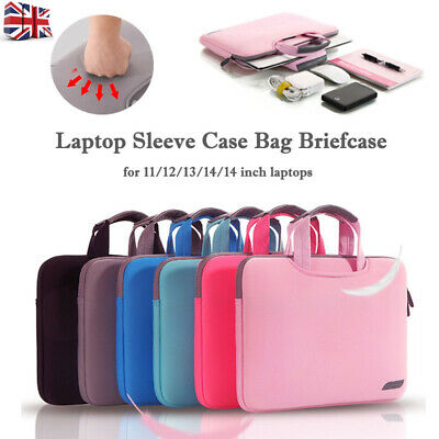 Macbook HP Lenovo Laptop Bag 11 13 15 Inch Notebook Sleeve Bag Business Handbag • 10.99£