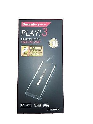 Creative Labs Sound Blaster PLAY! 3 USB Sound Card Opened Never Used • 8£