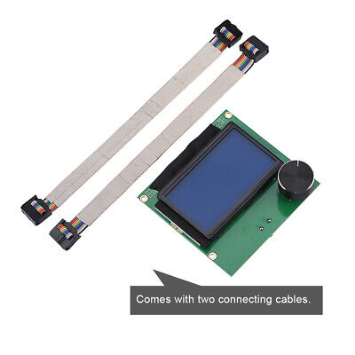 Replacement LCD Display Screen With 2 Cable For Creality CR-10S 3D Printer Part • 11.65£