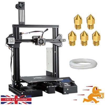 Creality Ender 3 3D Printer 220X220X250mm New UK Stock With Spare Parts • 227£