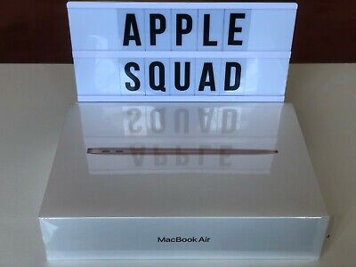 NEW 2020 UK MACBOOK AIR 13  1.1GHz I3 8GB RAM 256GB SSD TOUCH ID GOLD RRP:£999 • 889£