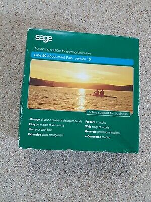 Sage Line 50 Version 10 Accounting Software For Windows • 49£