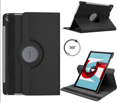 360 Rotating Leather Case Cover For Huawei MediaPad Models • 6.99£