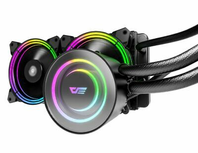 TR240 DarkFlash Aigo 240mm RGB Liquid Cooler, Cpu Water Cooler Asus Aura Sync • 59.99£