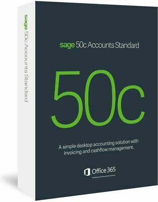 SAGE 50C Accounts Standard Business Accounting Software • 54.99£