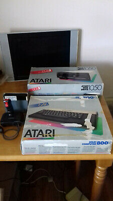 Atari 800XL Computer With Atari 1050 Drive, Fitted Dust Cover. • 265£
