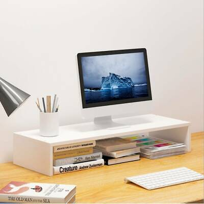 Wooden Desktop Monitor Stand LCD TV Laptop Computer Screen Riser Shelf Rack • 7.85£
