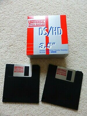 12 X Universal Office Supplies DS/HD 3.5 Inch Diskettes.  Brand New. • 10.99£