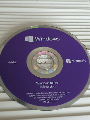 Microsoft Windows 10 Professional 64bit Install DVD DISC Only, MS Originals • 11.99£