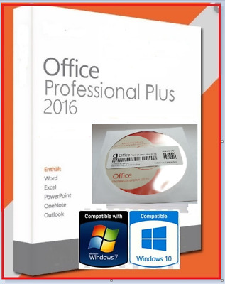Microsoft Office Professional  For Windows 10 & 7 / Full Version DVD For PC • 14.99£