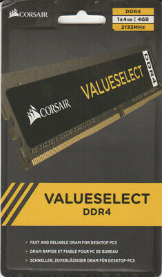 Corsair Value Select 4GB (1x4GB) DIMM Memory - DDR4, 2133MHz, PC4-17000, CL15 UK • 22.99£