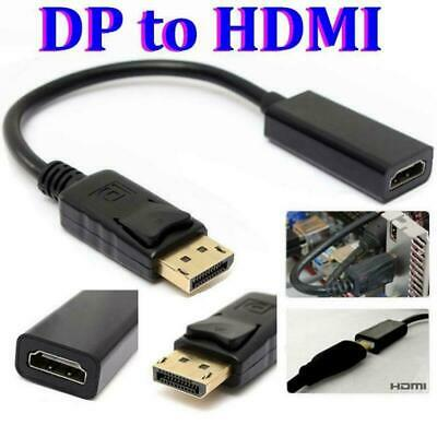 4K Display Port DP To HDMI Female Cable Adapter Converter For HDTV PC HP/DELL • 0.99£