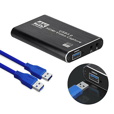 4K HDMI Capture Video Card USB 3.0 1080P Reliable Capture Game Card Recording • 30.99£