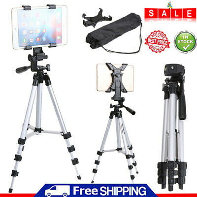 Foldable Tripod Holder Stand Mount Adjustable For IPad 2 3 4 Air Tablet PC + Bag • 11.99£