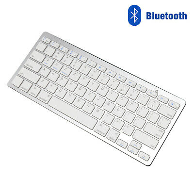 Wireless 3.0Bluetooth Slim Keyboard For IMac/ PC/ Tablet Smart Phone IPad IPhone • 10.99£