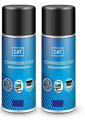 2 X 200ml Compressed Air Duster Gas Spray Cleaner MAX POWER 9 Bar Can • 5.99£