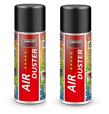 2 X Compressed Air Duster Gas Spray Cleaner Can 200ml • 5.99£