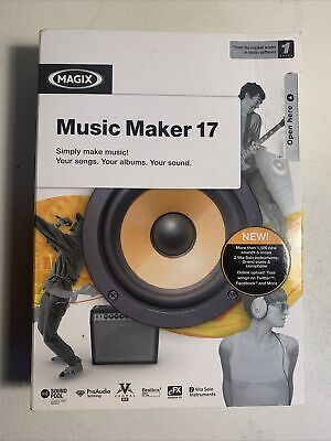 Magix Music Maker 17- New Sealed In Box • 1.20£