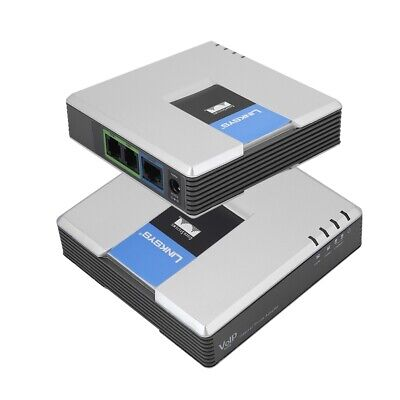 Unlocked VoIP Gateway Router SIP+RJ45+2 Phone Ports Adapter For Linksys PAP2T HA • 20.45£