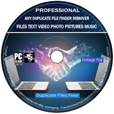 Duplicate File Finder Remover Locate Data Files Images Music Disk Cleaner PC CD • 2.99£