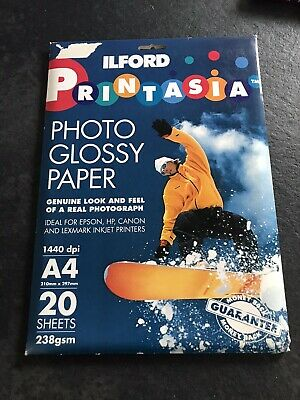 Ilford Photo Glossy Paper For Inkjet A4 Unopened • 2.99£