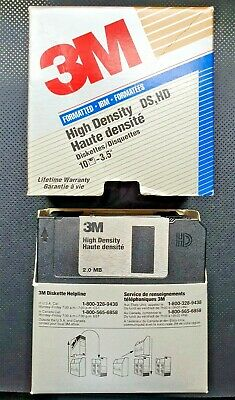 15 X 3M High Density DS HD 2.0MB 3.5  Floppy Disks Black, Boxed But Not Sealed. • 10£