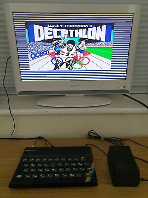 48k ZX Spectrum (AV Modified With PSU & Cables - VGC) • 79.99£