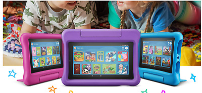New Amazon Kindle Fire 7 Kids Edition Tablet 16GB ,7 Inch Blue,Pink,Purple! FAST • 82.99£