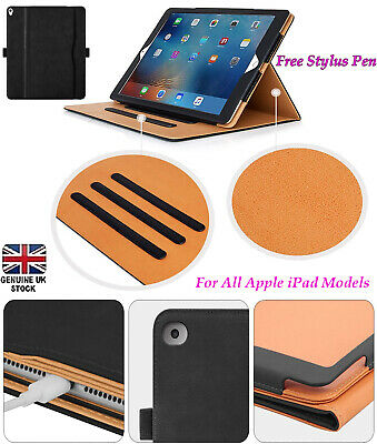 Genuine Leather TAN Magnetic Case Cover For Apple IPad 2/3/4 Air 10.2 10.5 9.7 • 6.99£