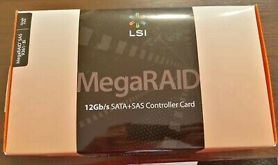 LSI MegaRAID 9361-8i 12gb/s SATA + SAS Controller Card. Brand New, Sealed • 95£