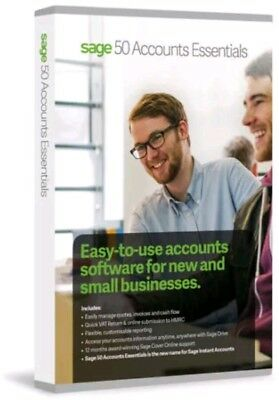 Sage 50 Accounts Essentials V25 - 2019 Software ☆ Perpetual : 🚀Fast Delivery • 13.99£
