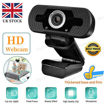 1080P Full HD Streaming Webcam With Microphone For PC Video Calling Conference • 12.29£