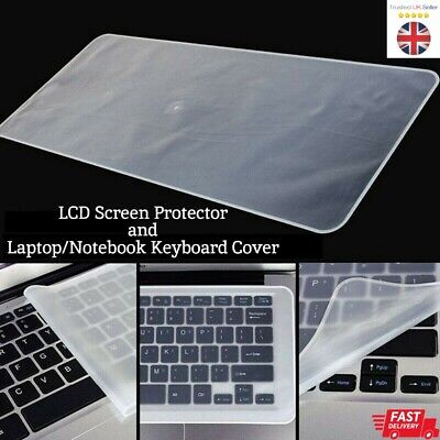 15.6  Anti-Glare Laptop Screen Keyboard Cover Silicone Protector No Dust Water • 7.99£