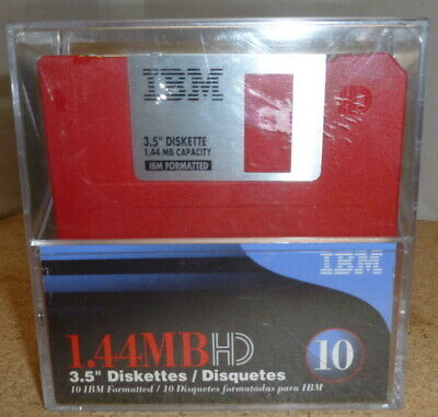 IBM Formatted 3.5  Floppy Disks X10 Sealed - 1.44MBHD - 5 Colours  • 12.50£