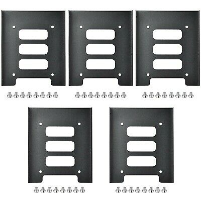 TRIXES Pack Of 5 Black Metal Internal Mounting Kits For 2.5 Inch SSD Laptop D... • 32.49£