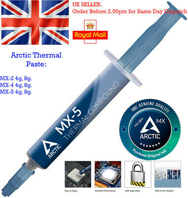 ARCTIC MX-4 8g 4g - Thermal Compound Paste Carbon Based High Performance CPU Coo • 6.49£
