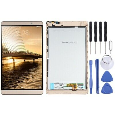 GOLD LCD Panel Screen Digitizer Full Frame Complete For Huawei Medipad M2 8.0 • 43.06£