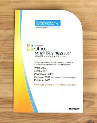 Microsoft Office Small Business 2007 Product Key Card • 14£