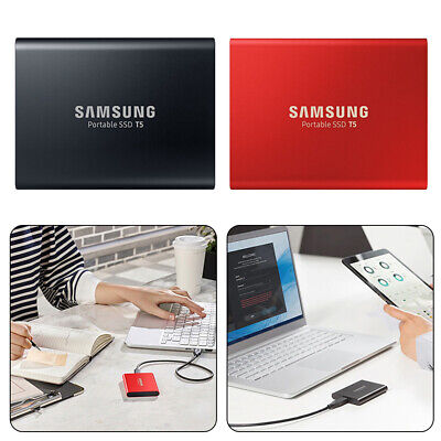 Portable SSD T5 2TB Mobile External Solid State Drive In Black USB 3.0 Samsung • 79.99£