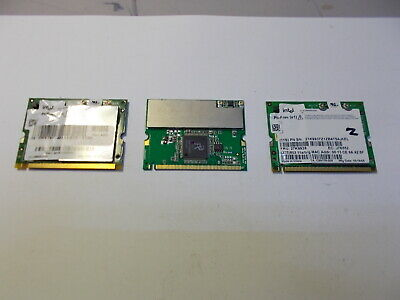 A Batch Of 3 Vintage Internal Wifi /wireless Laptop Cards (LARGER TYPE) • 8.95£