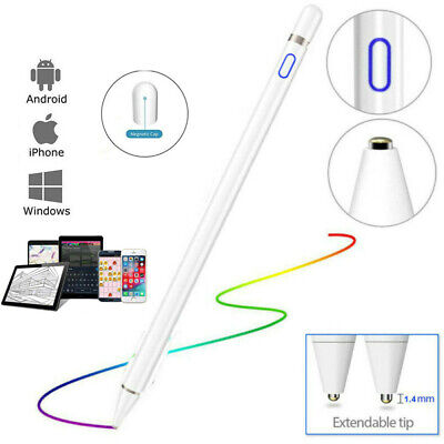 For IPad Stylus Pen Drawing Capacitive Active Touch Screen Rechargeable New • 14.89£