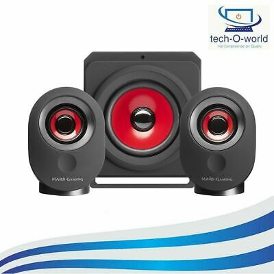 Mars Gaming MSX, PC Speakers 35W, 5 Multimedia Modes, 2.1 Subwoofer, 3.5 Mm Jack • 23.99£