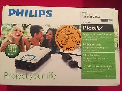 Philips Picopix Projector Ppx2340 Mini Pocket Projector New Boxed Uk Warranty • 174.99£