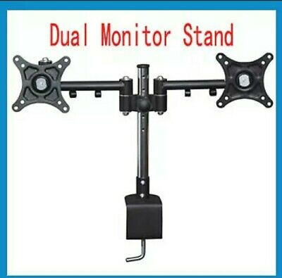 Dual Monitor Mount Arm Desktop Stand Screen Support • 11.60£