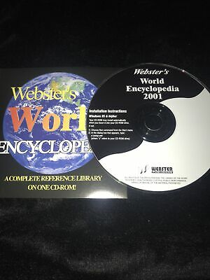 Websters World Encylopedia 2001 - See Photos For Details • 3£