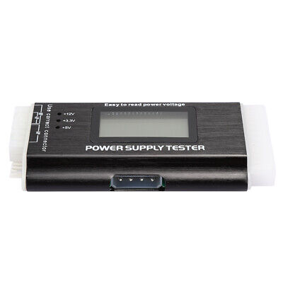 Computer Power Supply Tester LCD Display Support Aluminum Alloy 20/24Pin ATX BTX • 12.10£