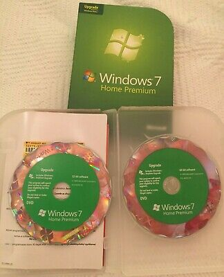 Microsoft Windows 7 Home Premium 64 + 32-bit Discs (Upgrade) • 9.99£