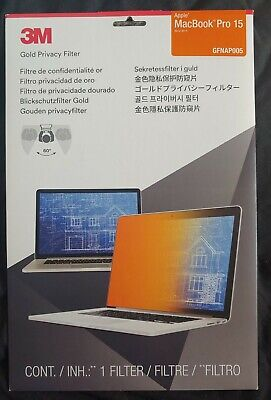 3m MacBook Pro 15 Gold 3M Privacy Filter GFNAP005 BNIB 2012 - 2015 • 25£