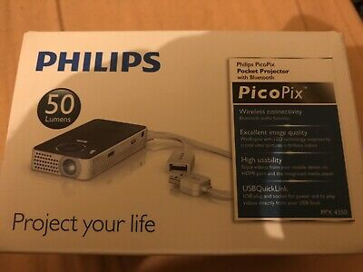 Philips Picopix Projector Ppx4350 Wireless Bluetooth Pocket Projector New Seald  • 299.99£
